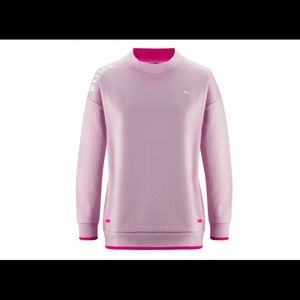 PUMA CHASE SWEATSHIRT IN ORCHID ROSA